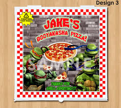 personalized pizza boxes tmnt pizza box label printable personalized mutant