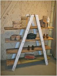 Ladder Shelving Unit Diy Ladder Shelf Vintage Ladder Shelving Unit Tall Ladder Shelf