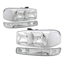 2005 gmc sierra tail lights gmc sierra 2500hd 2001 2006 clear headlights and bumper lights