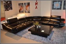 Black Leather Sectional Sofa Recliner Breathtaking Modern Leather Sectional Sofa With Recliners 6
