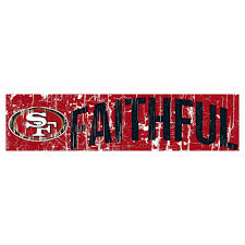 christmas gifts for 49ers fans nfl san francisco 49ers fan creations 24 slogan wood sign nfl san