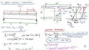 cross sectional moment of inertia cracking moment exle problems cracking moment of inertia t