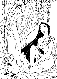 pocahontas and grandmother willow pocahontas coloring pages
