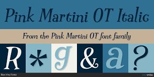 pink martini logo pink martini ot fonts by blue vinyl fonts fontspring