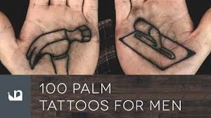 hand tatto for men 100 palm tattoos for men youtube