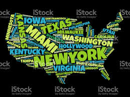 World Cloud Map by Usa Map Word Cloud Stock Vector Art 688044134 Istock
