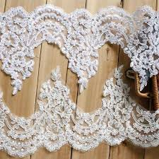 lace ribbon by the yard sale by yard white 20 cm wide bridal veil embroidery lace