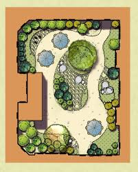 Garden Floor Plan by Plan Rendering Of The