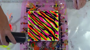 neon colors with black omg that u0027s bad acrylic pouring
