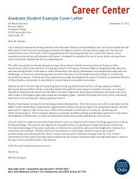 best solutions of cover letter for grad student with job summary