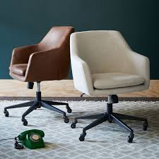 Comfy Desk Chair by Helvetica Leather Office Chair West Elm Uk