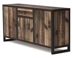 bahut cuisine pas cher bahut 3 portes koroco de style industriel en bois et métal buffet