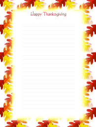free printable thanksgiving lined stationery holiday money