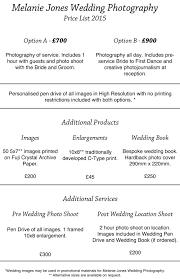 wedding photography pricing wedding price list melanie jones