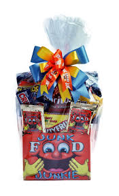 junk food gift baskets junk food junkie new gift sensations