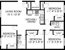 Open Floor Plan One Story Farmhouse Bedrooms All Together Google - Four bedroom house design