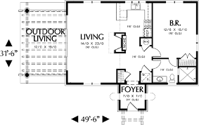 guest house floor plan mediterranean guest home plan or vacation retreat 69124am