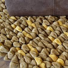 pebble chamois rug mustard