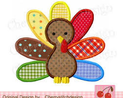 thanksgiving girly turkey applique 4x4 5x7 6x10 machine