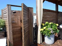 Small Shower Ideas by Outstanding Wooden Outdoor Small Shower Room Ideas Beside