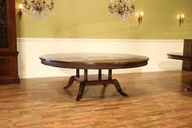 large 84 inch round mahogany dining room table seats 10