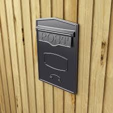 Bronze Wall Mount Mailbox Bloomsbury Rear Access Column Mounted Mailbox