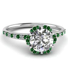 flower emerald rings images Latest trends of thin band engagement rings jpg