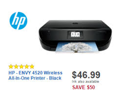 printer sale black friday 46 99 hp envy 4520 wireless all in one printer black deal at best