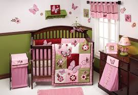 Nursery Bedding And Curtains Curtain Nursery Baby Bedding With White And Pink Color Sets