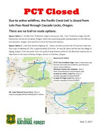 Current Wildfire Map Oregon by 8 Closures On Pacific Crest Trail Due To Fire Right Now Snowbrains