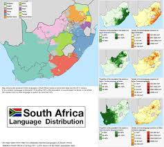 South Africa Maps by Language Distribution In South Africa A Country With 11 Official