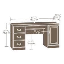 sauder heritage hill computer credenza with laptop drawer and