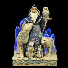 arctic santa with animals lighted figurine jim shore heartwood