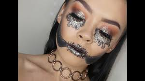 Halloween Makeup Skull by How To Create A Glam Glitter Skull For Halloween Makeup Tutorial