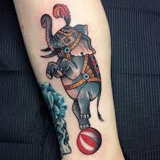29 best vintage circus elephant tattoo images on pinterest
