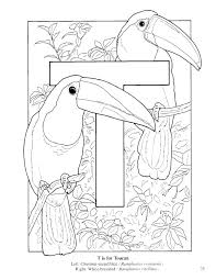 alphabet coloring pages printable bird colotring pages