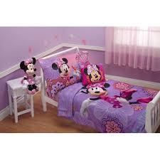 disney minnie mouse fluttery friends 4 piece toddler bedding set