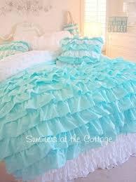 Shabby Chic White Comforter Best 25 Ruffled Comforter Ideas On Pinterest White Ruffle