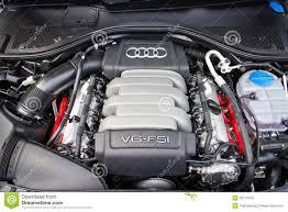 audi a7 engine audi a7 sportback black edition 2014 engine editorial stock photo