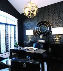 Sphere Interiors Black Office Contemporary Den Library Office Atmosphere