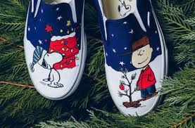peanuts brown christmas available now vans slip on peanuts brown christmas