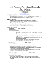 A Good Example Of A Resume by Resume Format For Job