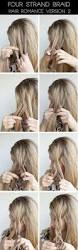 How To Do Easy Hairstyles Step By Step by Hairstyle Tutorial Four Strand Braids And Slide Up Braids Hair