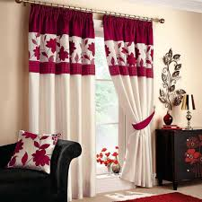 ideas chic red and beige living room curtains black and red