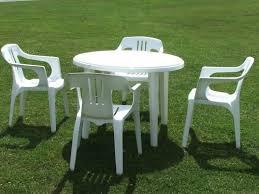 White Resin Patio Table White Plastic Patio Chairs Portia Day An Idea