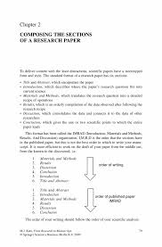 writing of research paper composing the sections of a research paper springer from research to manuscript from research to manuscript