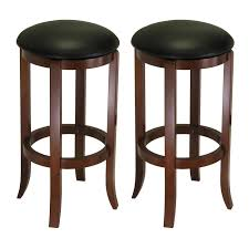 Black Bar Stool Amazon Com Winsome Wood 30 Inch Black Pvc Seat Walnut Bar Stools
