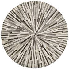 Round Area Rugs Contemporary by Grey Cowskin 150cm Diameter Contemporary Round Rugs Quality From