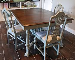 Retro Dining Room Tables by Painted Vintage Dining Table
