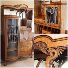 Maddox Tables Secretary Desk by Antique Secretary Desk With Bookcase Antique Quartersawn Oak